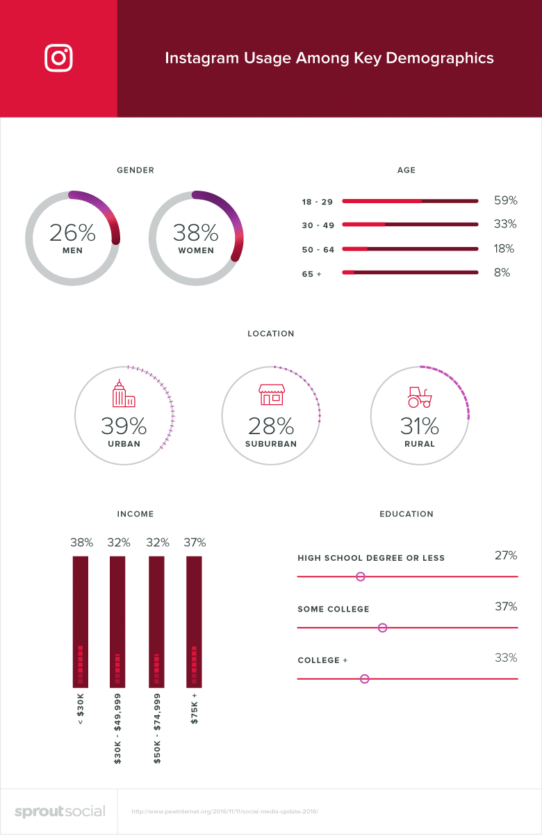 Instagram Usage For B2B By Key Demographics